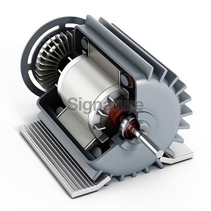 Electric motor detail