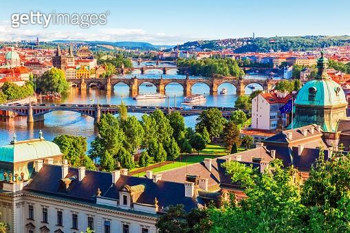 Sunset in Prague, Czech Republic