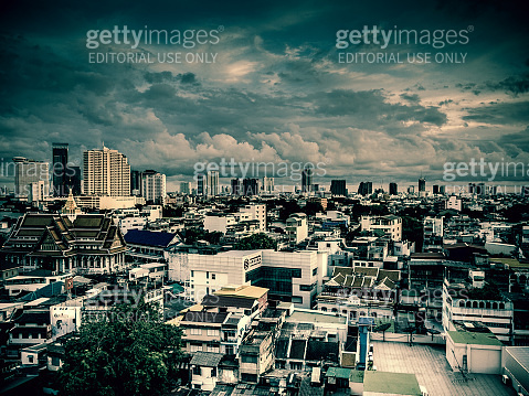 Bangkok City of Angels Skyline Cloudscape