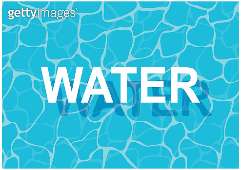 Turquoise rippled water texture background.