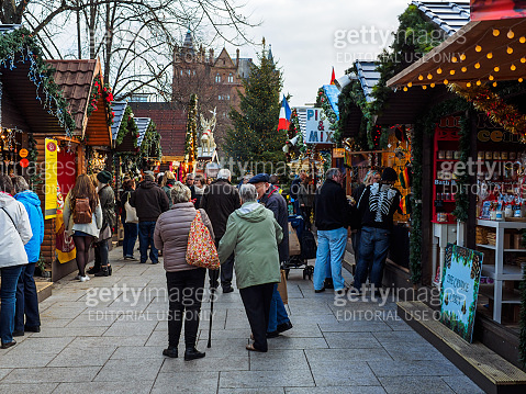 Christmas market in Belfast,Northern Ireland