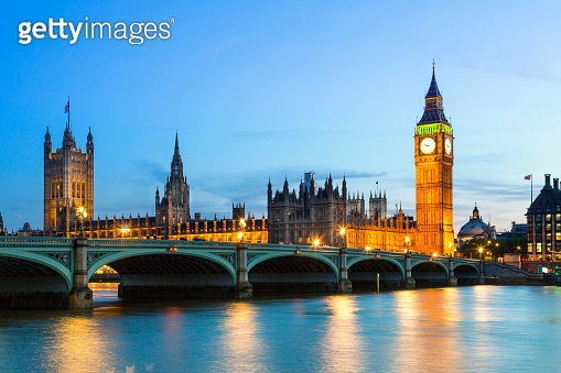 Big Ben and Britain's Houses Of Parliament at Dusk