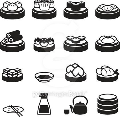 Dim sum & japanese food icons