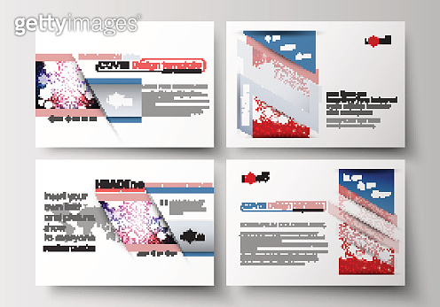 Set of business templates for presentation slides. Easy editable abstract