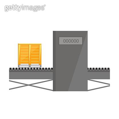 Conveyor belt isolated on white background