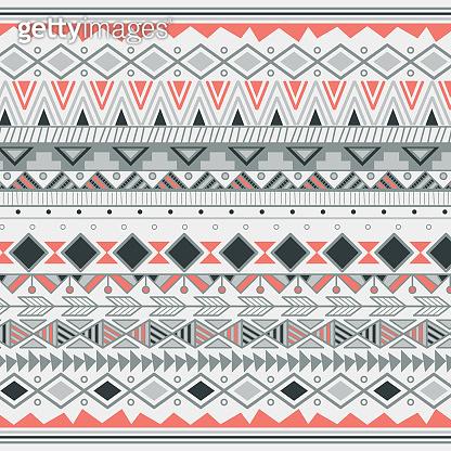 Aztec tribal pattern in stripes