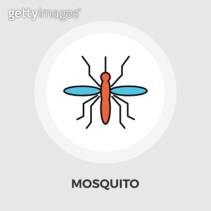 Mosquito vector flat icon