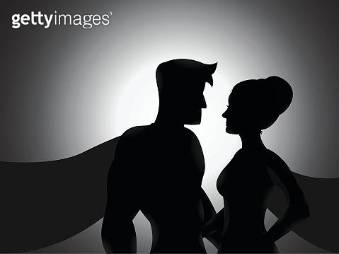 Couple Hero Silhouette