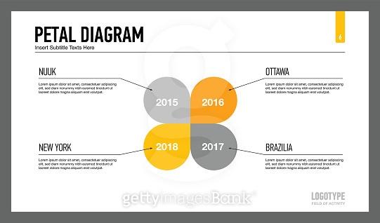 Petal diagram slide template