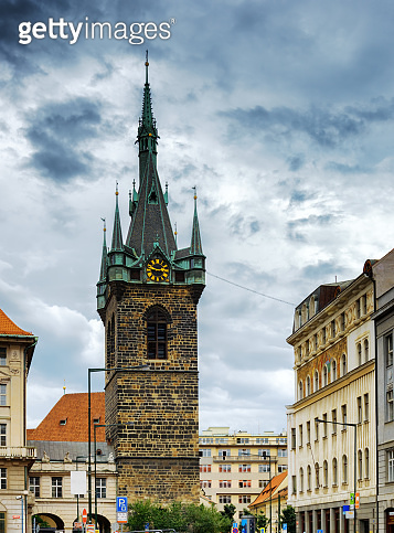 The Henry's Bell Tower (Jindrisska tower) in Prague