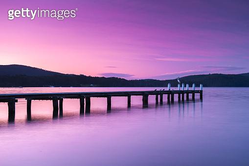 Port Arthur pier and hillside.