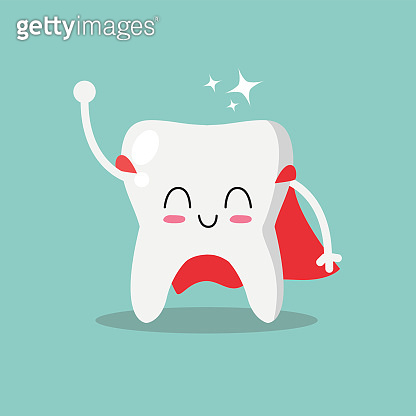Cute and funny tooth