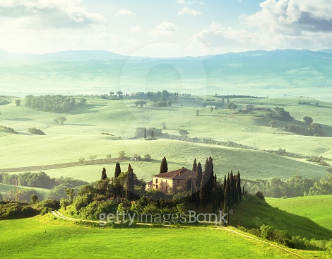 morning in Tuscany, Italy