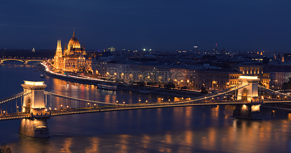 Hungarian Parliament Building and Chain Bridge