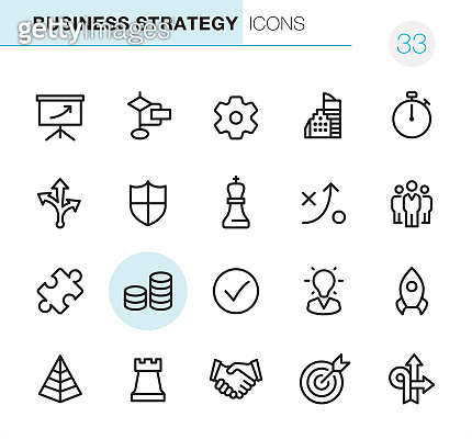 Business Strategy - Pixel Perfect icons