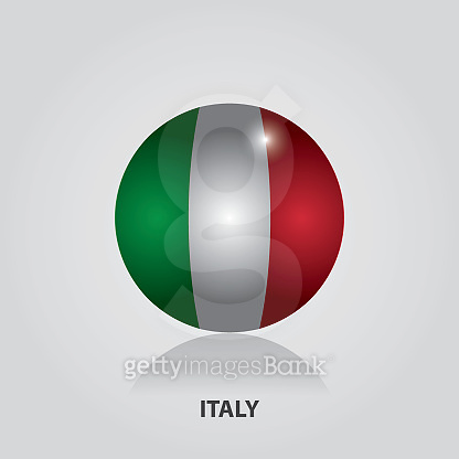 Italy - Flags Of Europe Vector Illustration