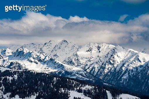 Austria winter landscape