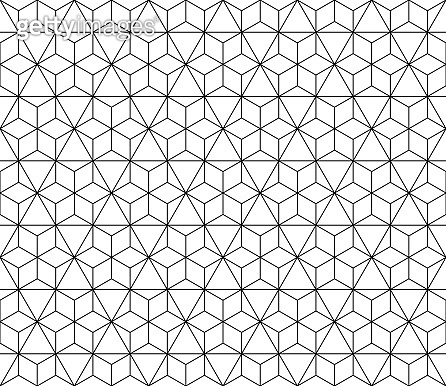 Vector seamless geometric pattern with editable weight of stroke