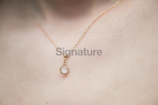 Bride with necklace