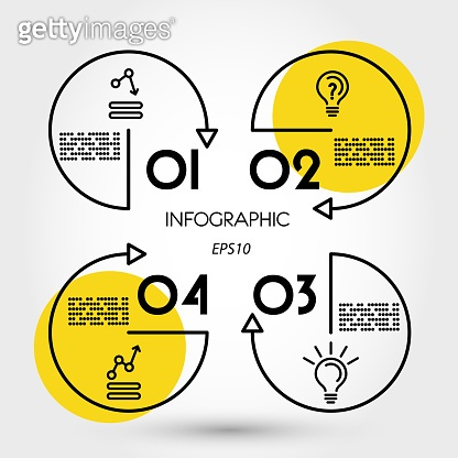 yellow square infographic with lines
