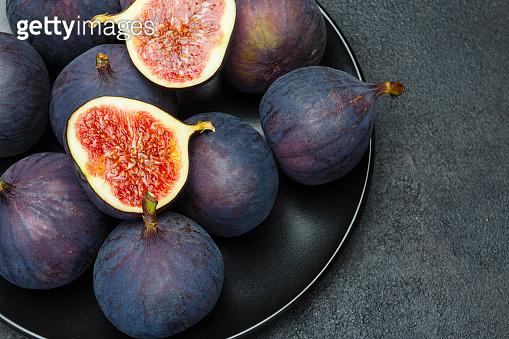 Fig isolated on dark concrete background