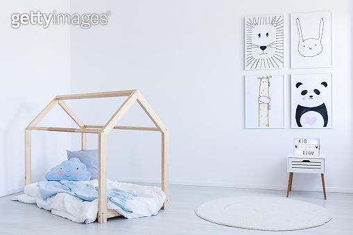 DIY bed in boy's room