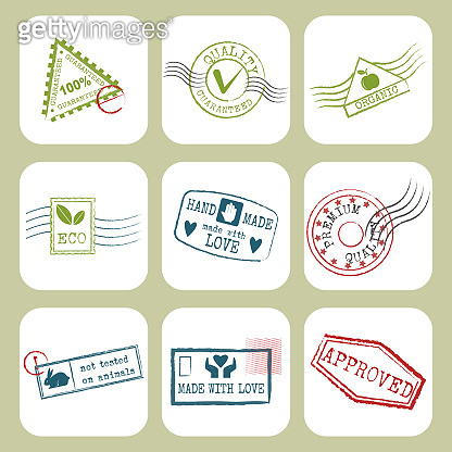 Travel stamps fictitious international airport symbols grunge passport or postage sign vector illustration