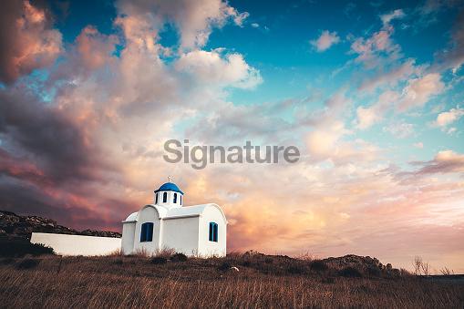 Traditional Greek Church On Karpathos Island