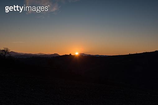 Hills sunset