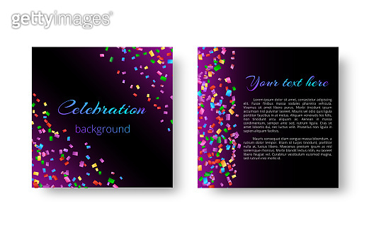 Christmas invitation card with confetti