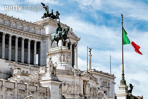 Altare della Patria in Piazza Venezia. Rome, Italy
