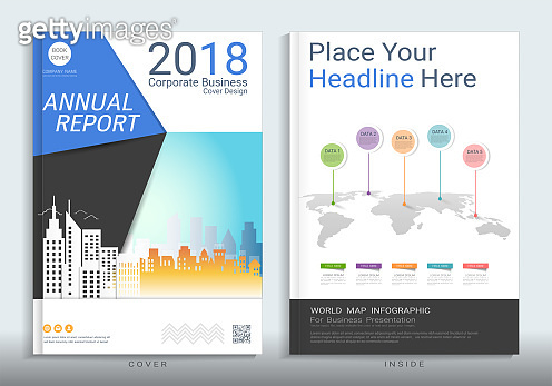 Corporate business cover design with space for photo background, Use for annual report, proposal, brochure, flyer, leaflet, catalog, magazine, booklet, portfolio, poster, Vector template in A4 size.