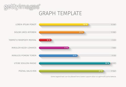 Vector column horizontal graph template