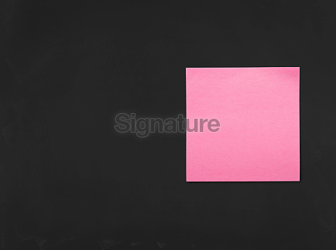 Adhesive Note - Business Chalkboard Background