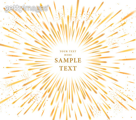 Vector Abstract Golden explosion, Gold bursting effect, radiating edgy lines, light of moving stars,