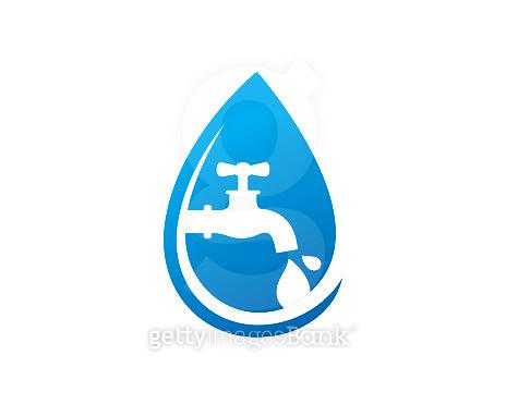 Clean Water Symbol Template Design Vector, Emblem, Design Concept, Creative Symbol, Icon