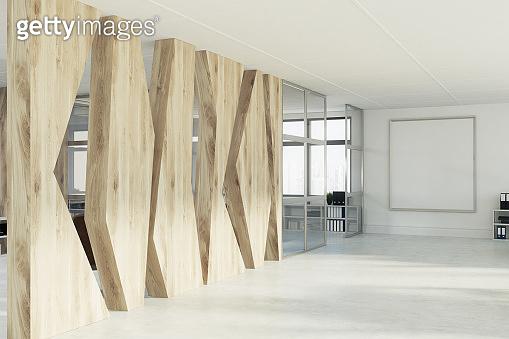 Geometric pattern open space office, poster