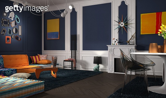 Eclectic and classic lounge