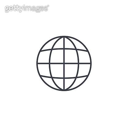 earth, globe thin line icon. Linear vector symbol