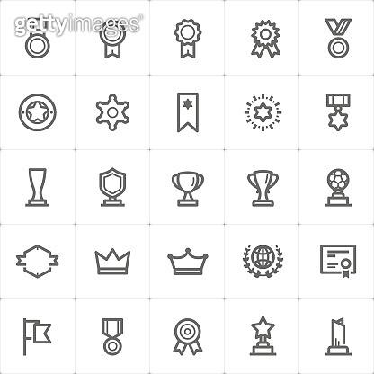 Mini Icon set – award icon vector illustration