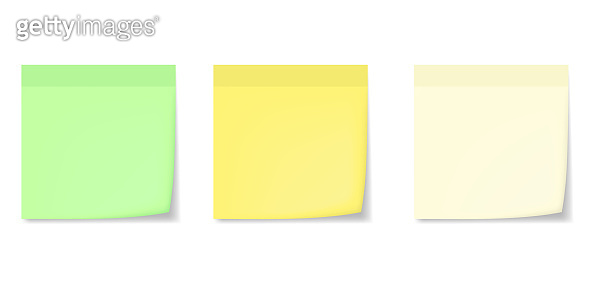 Realistic memo stickers with shadow mockups