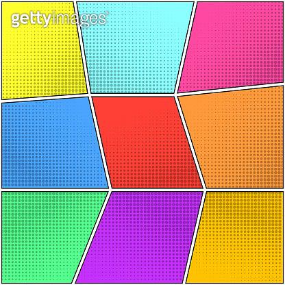 Color halftone backgrounds set for speech bubbles