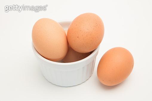 Eggs in a ramekin