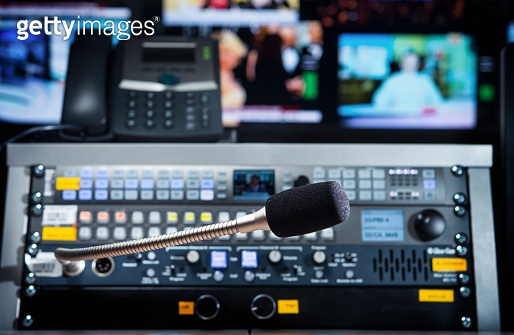 microphone on the control panel in the media studio