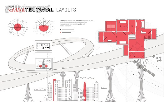 Architectural layouts in Trendy polygonal
