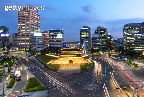 Namdaemun gate in Seoul South Korea.