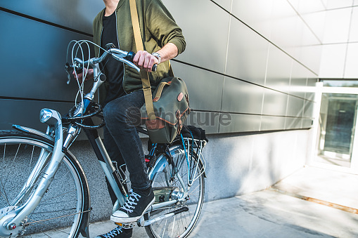 Close up bike riding