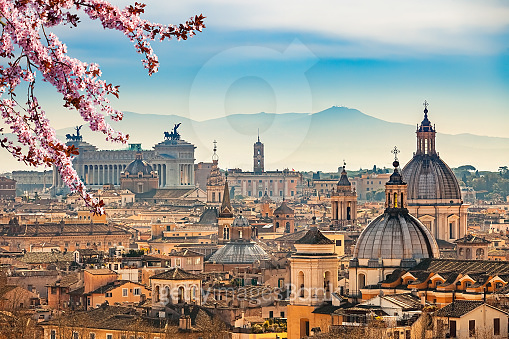 Aerial view on Rome, Italy