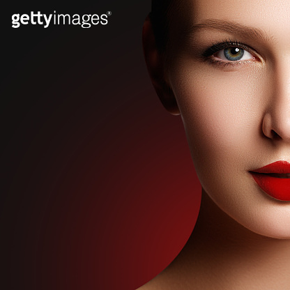 Wellness, cosmetics and chic retro style. Close-up portrait of s