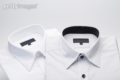 Men's shirts Folded on a white background
